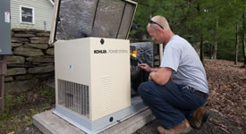 Residential generator service & installation.