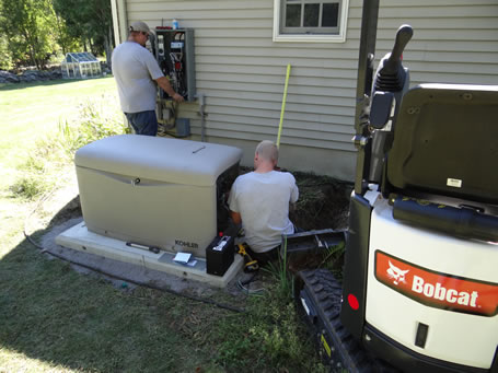 Generator installation done the right way.