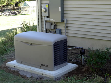 A professionally installed generator.